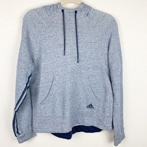 Adidas Pull Over Light Blue Hoodie | Medium